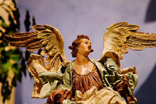 Angel, from the Presepio that was set up this past Christmas.